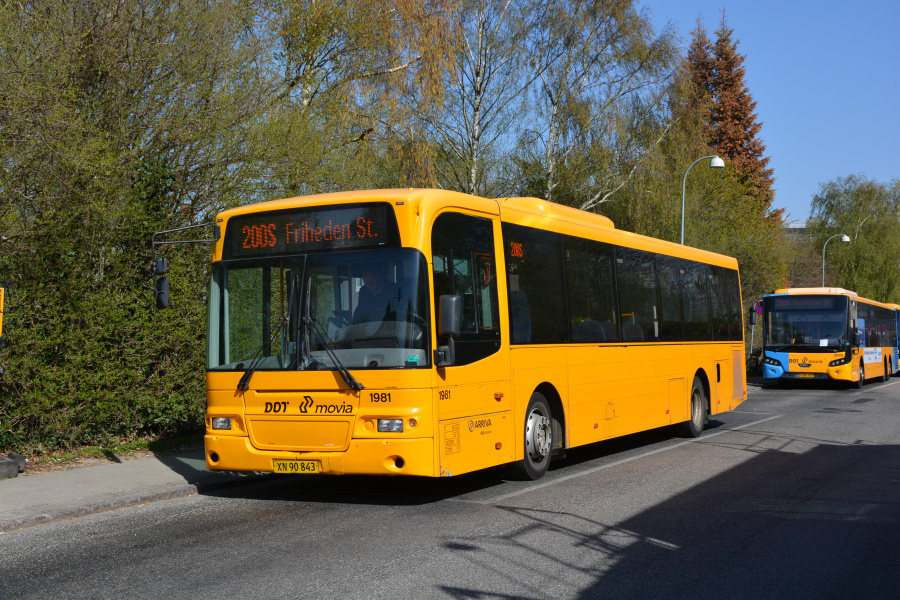 Arriva 1981/XN90843 på Klausdalsbrovej i Buddinge den 23. april 2019