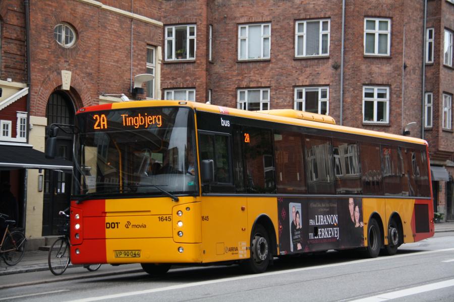 Arriva 1645/VP90044 i Holmbladsgade på Amager den 26. september 2018