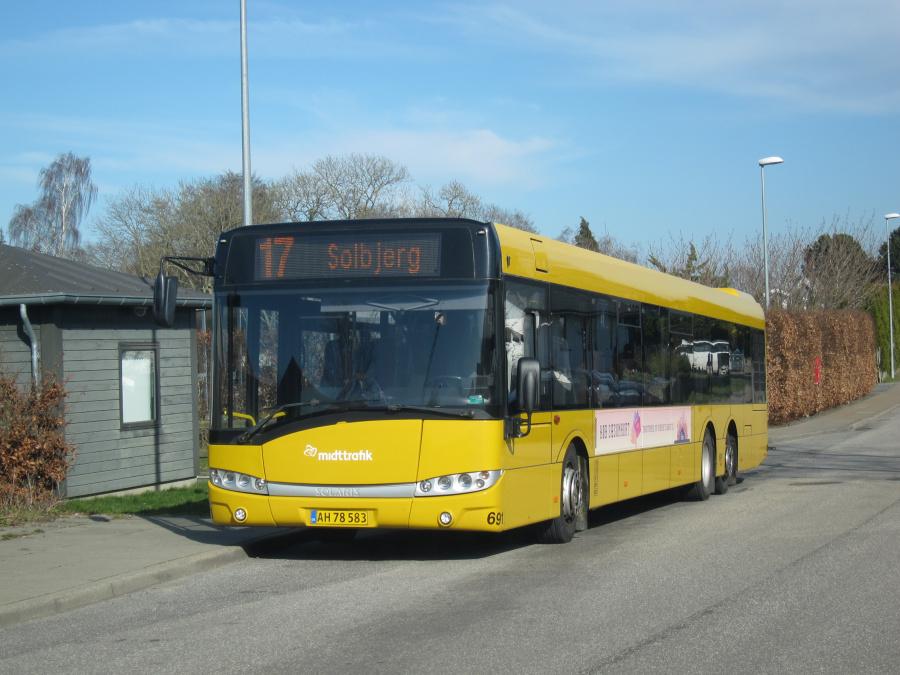 Århus Sporveje 691/AH78583 på Præstekravevej i Studstrup den 25. marts 2020