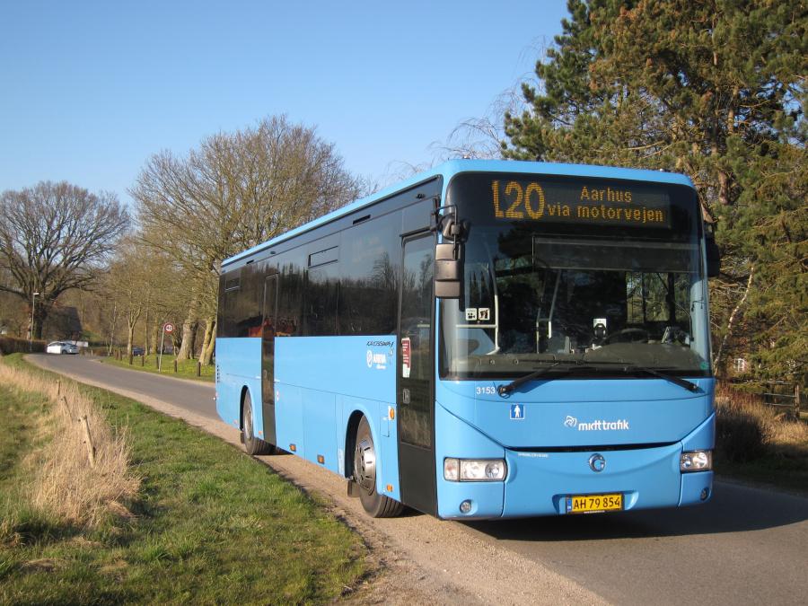 Arriva 3153/AH79854 på Askhøjvej i Albøge den 26. marts 2020