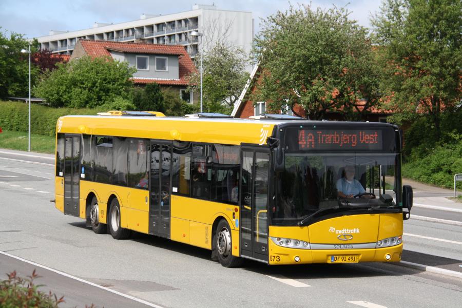 Århus Sporveje 673/DF91491 på Tinesvej i Gellerup den 23. maj 2016