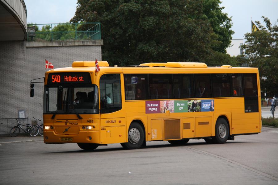 Ditobus 4663/VU94835 ved Holbæk St. den 15. juni 2016