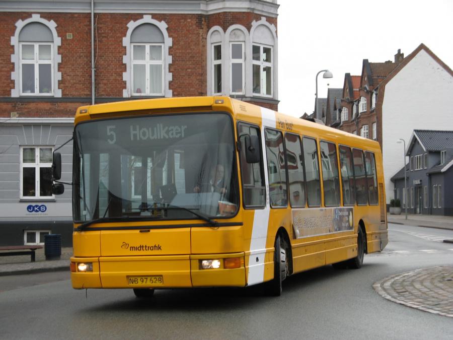 Pan Bus 197/NB97628 i Jernbanegade i Viborg den 31. marts 2008