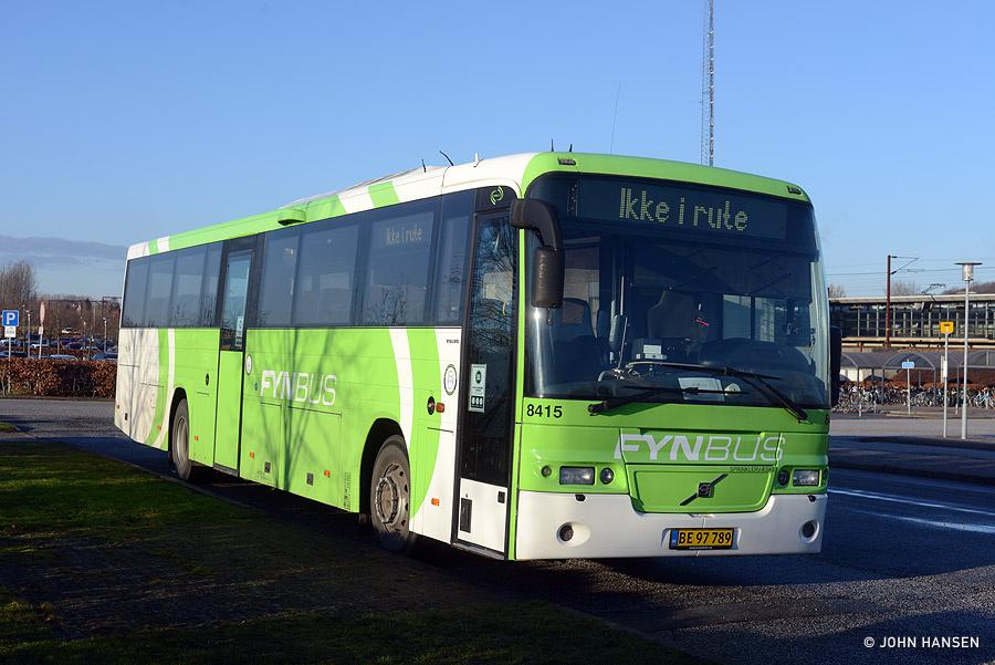 Tide Bus 8415/BE97789 ved banegården i Nyborg den 26. januar 2021