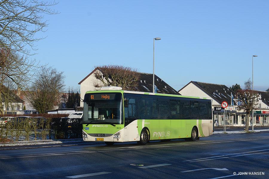 Keolis 3515/AZ20243 på Hjallesevej i Odense den 31. januar 2021