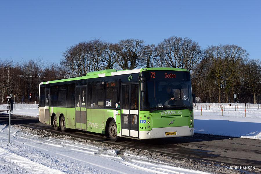 Keolis 3619/XJ94488 ved Syddansk Universitet i Odense den 6. februar 2021