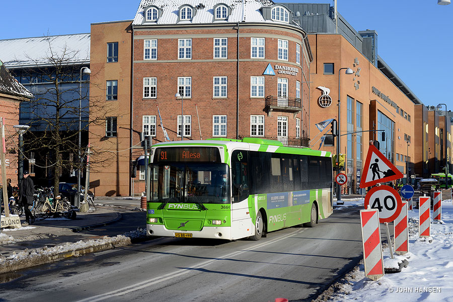 Keolis 3664/VS88498 på Østre Stationsvej i Odense den 6. februar 2021
