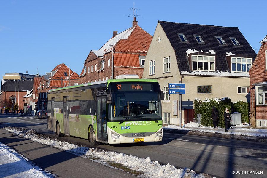 Keolis 3509/AZ20241 på Hjallesevej i Odense den 6. februar 2021