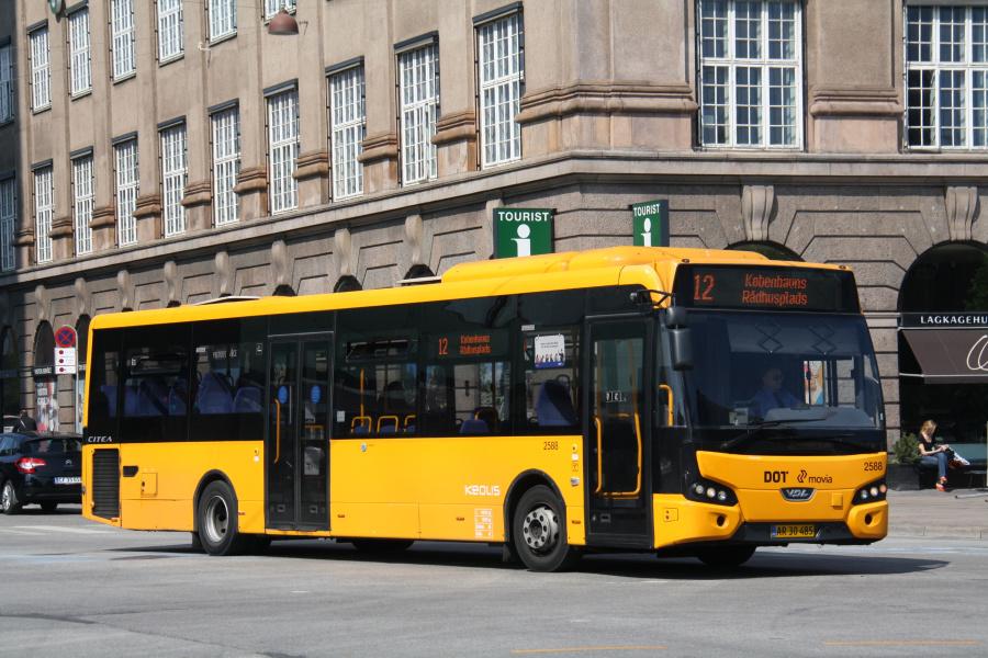 Keolis 2588/AR30485 på Vesterbrogade i København den 25. april 2019
