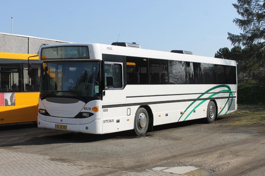 Ditobus 4829/BX28382 på Gl. Rosagervej i Præstø den 30. marts 2021