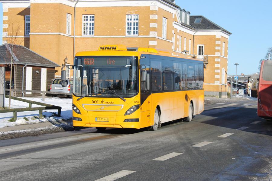 Nobina 6252/AK37615 på Jernbanevej i Præstø den 12. februar 2021