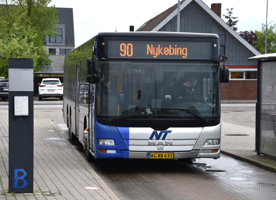 Arriva 3055/AG88633 i Nykøbing Mors den 26. maj 2021
