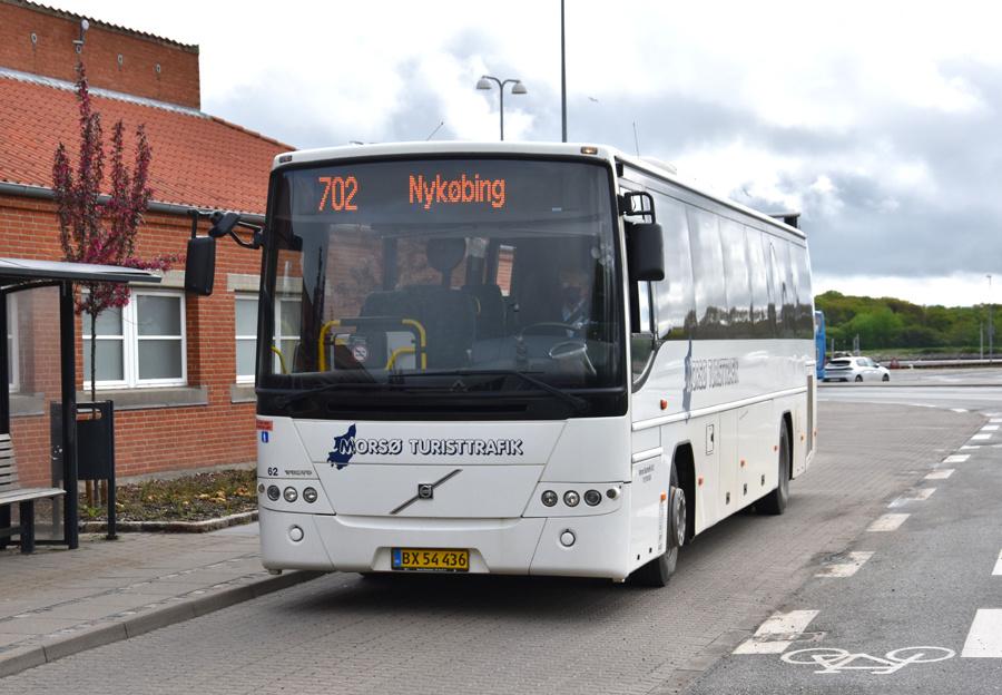 Morsø Bustrafik 62/BX54436 i Nykøbing Mors den 26. maj 2021