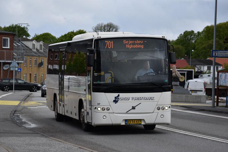 Morsø Bustrafik 67/BX54437 i Nykøbing Mors den 26. maj 2021