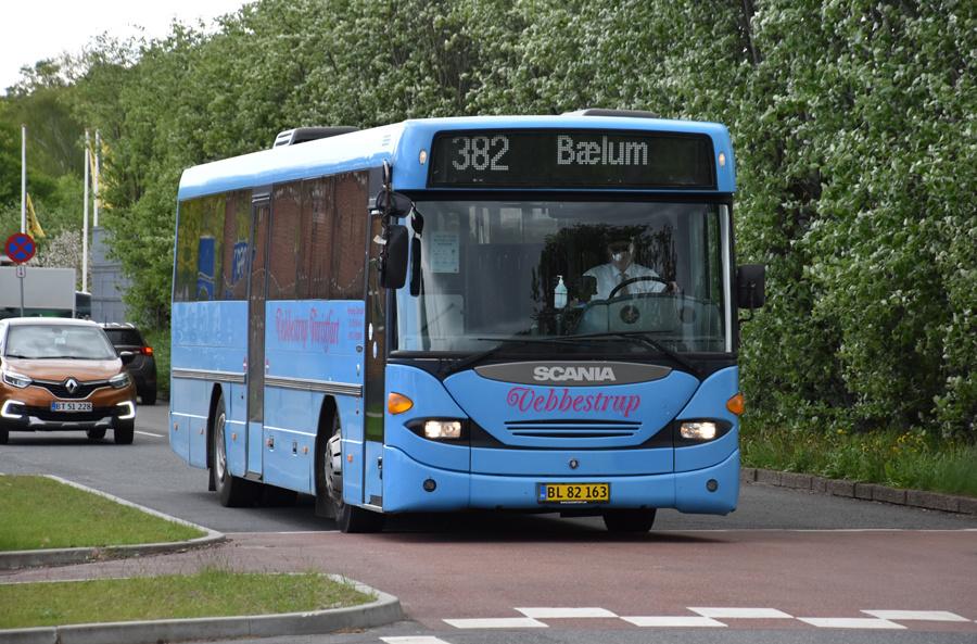 Vebbestrup Turistfart BL82163 i Bælum de 27. maj 2021
