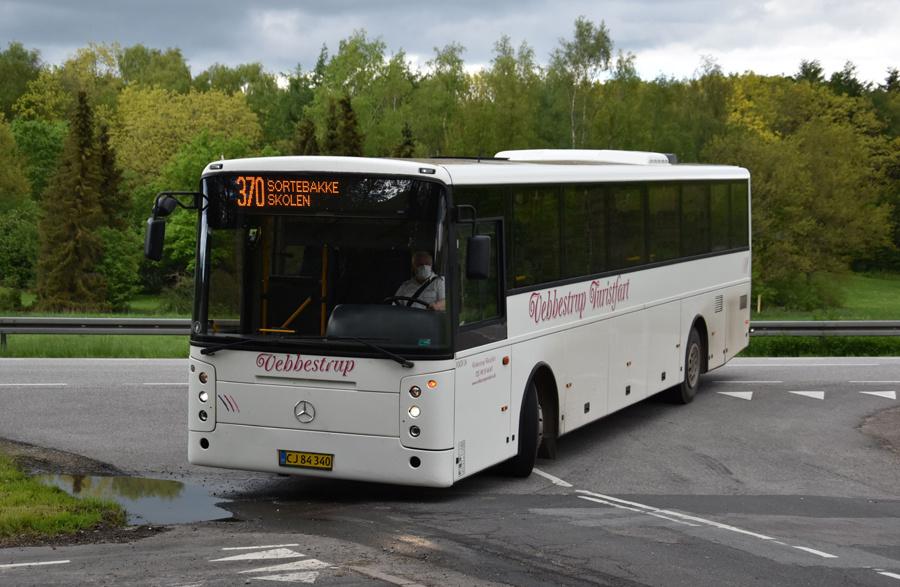Vebbestrup Turistfart CJ84340 i Nørager de 27. maj 2021