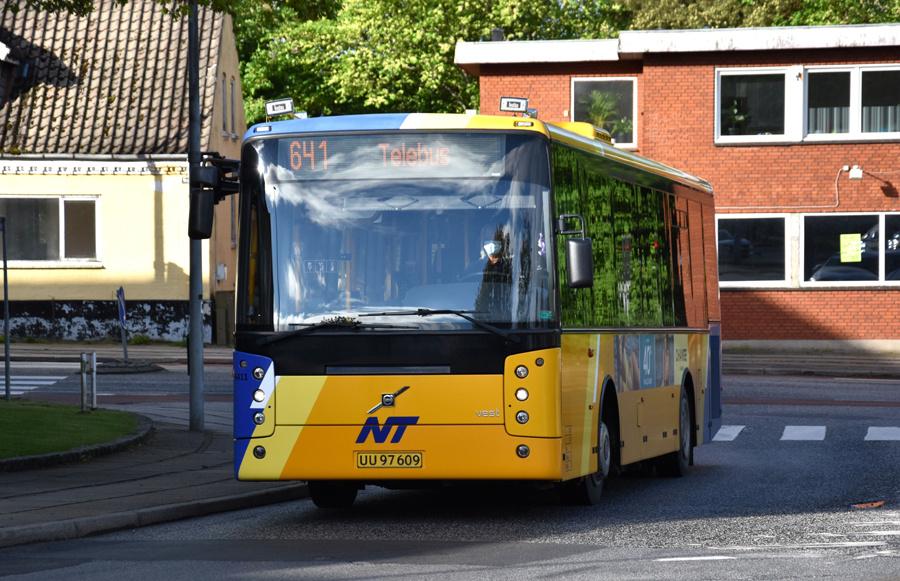 Ditobus 6411/UU97609 i Brønderslev den 27. maj 2021