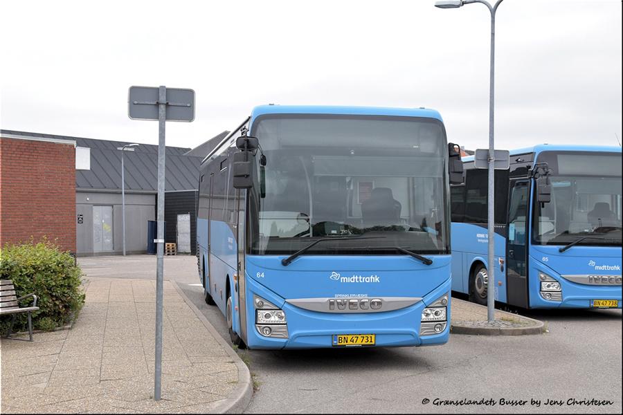 Brande Buslinier 64/BN47731 i Skjern den 29. august 2021