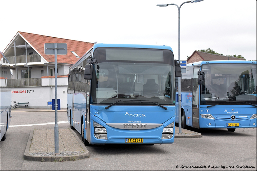 Brande Buslinier 67/BS93683 i Skjern den 29. august 2021