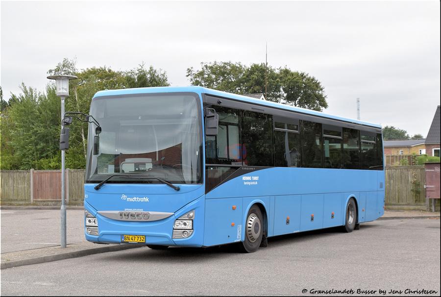 Brande Buslinier 63/BN47732 i Skjern den 29. august 2021
