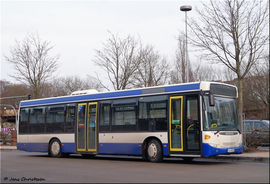 Rohde Verkehrsbetriebe FL-RV27 på ZOB i Flensburg i Tyskland den 30. januar 2019