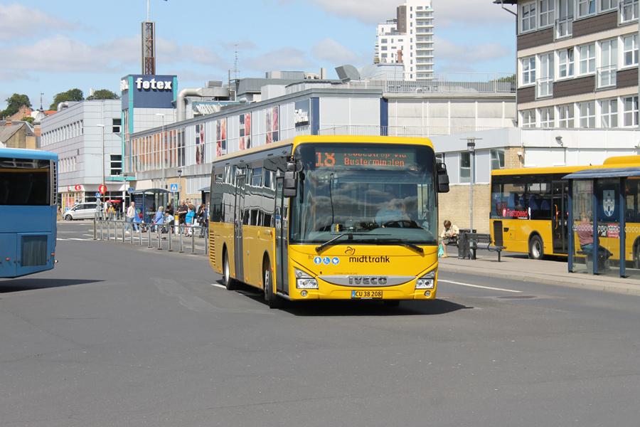 Faarup Rute- og Turistbusser 80/CU38208 på Randers Busterminal den 3. august 2021