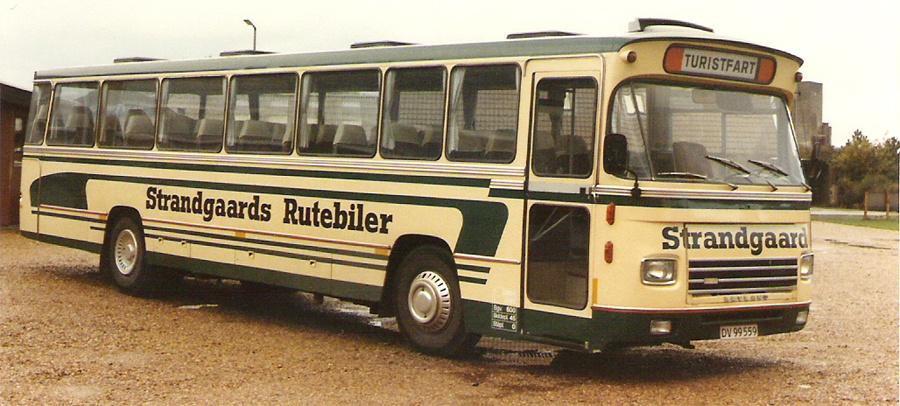 Strandgaards Rutebiler 26/DV99559 i Varde i april 1986