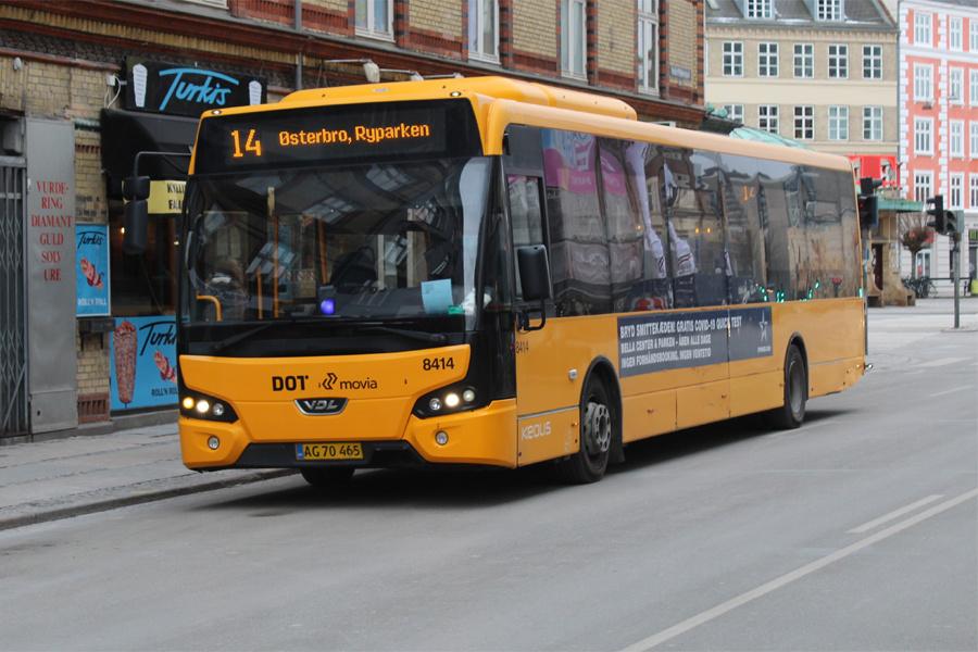 Keolis 8414/AG70465 på Haraldsgade i København den 6. februar 2021