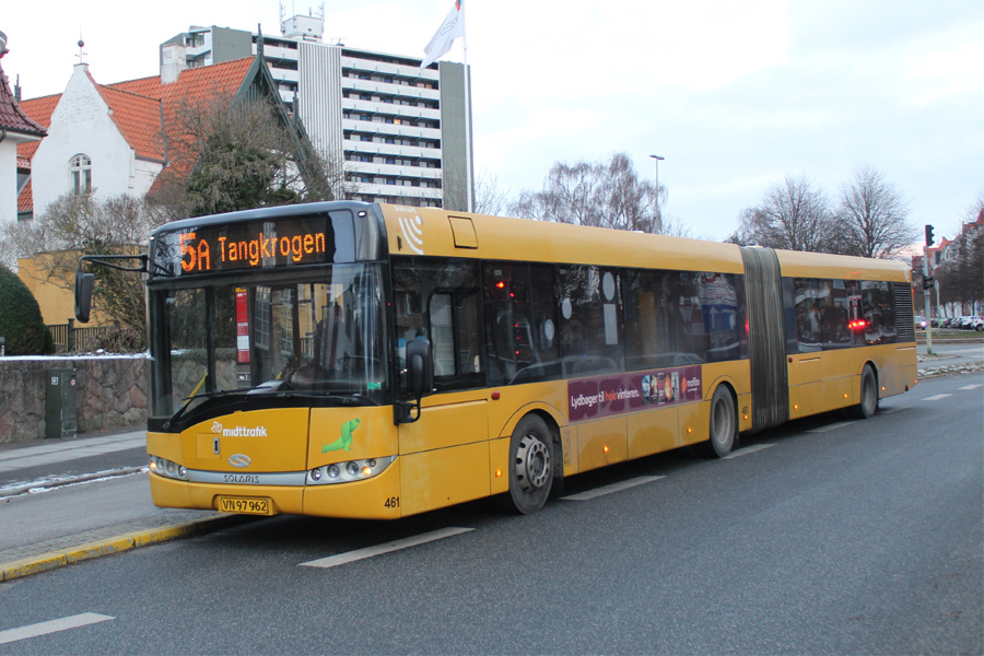 Århus Sporveje 461/VN97962 på Dalgas Avenue i Århus den 5. februar 2021