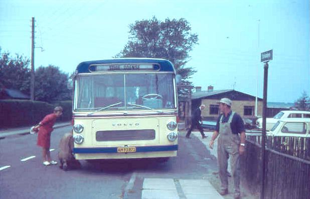 Stige Bussen AM93871 ved Bogense Karrosserifabrik i 1969