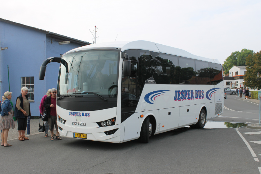 Jesper Bus 7/CV83088 på havnen i Ærøskøbing den 11. september 2021