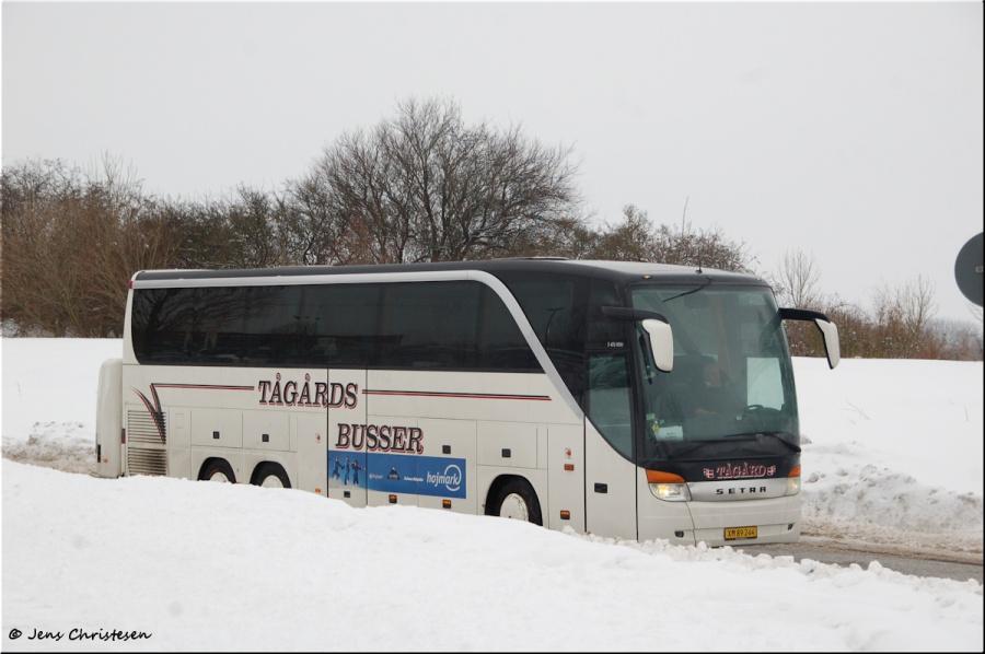 Tågårds Busser XM89244 på Campusallee i Flensburg i Tyskland den 14. februar 2010