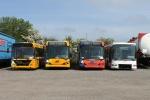 Arriva 4398, 4390, 4423 og Vrå Busservice